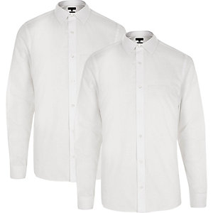 Lot de chemises cintrées blanches