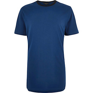 Blue sporty trim t-shirt