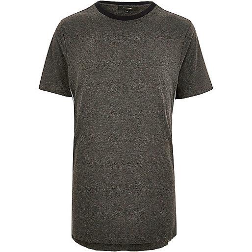 Dark grey sporty trim t-shirt