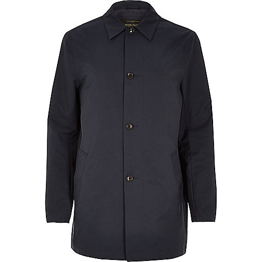 Navy smart minimal mac coat