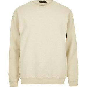 Beige crew neck sweatshirt