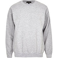 Grey crew neck sweatshirt