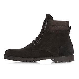Zwarte suède laarzen