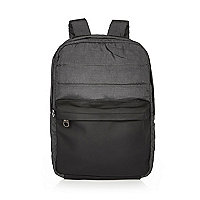 Grey quilted backpack