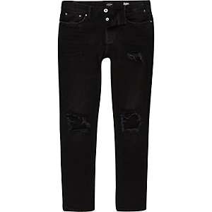 Sid zwarte ripped skinny jeans