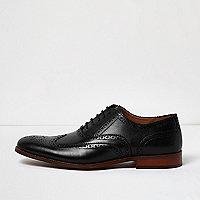 Chaussures richelieu en cuir noir