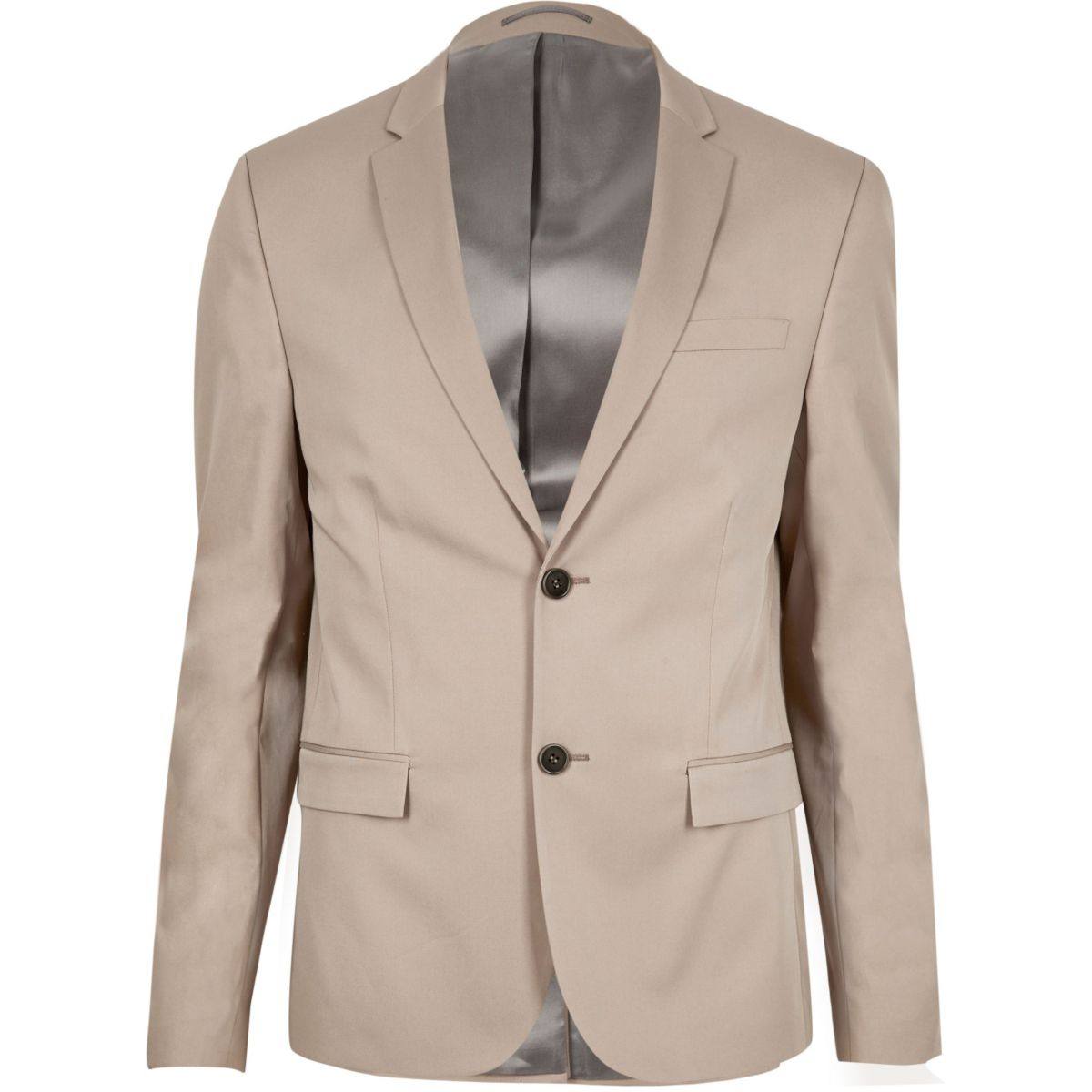Veste de costume courte écrue coupe skinny