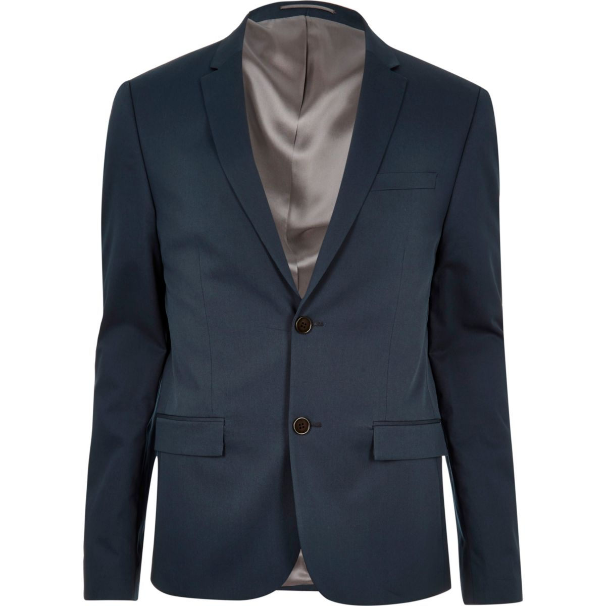 Blaue Skinny Anzugsjacke