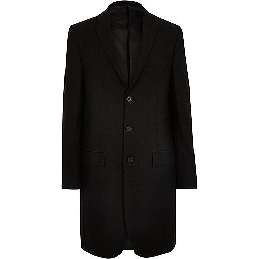 Black longline blazer