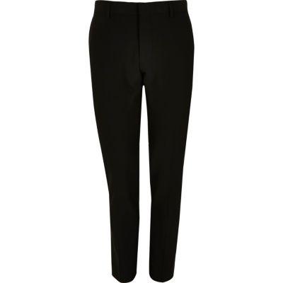 River Island Pantalon de costume ultra skinny noir