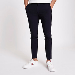 Marineblauwe superskinny fit pantalon