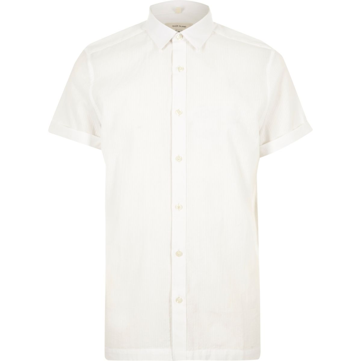 White seersucker short sleeve shirt shirts sale men for Mens seersucker shirts on sale