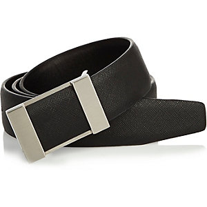 Black plated buckle belt