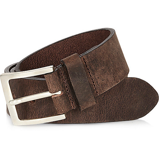 Brown distressed belt