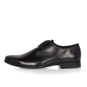 Zwarte leren nette derby schoenen