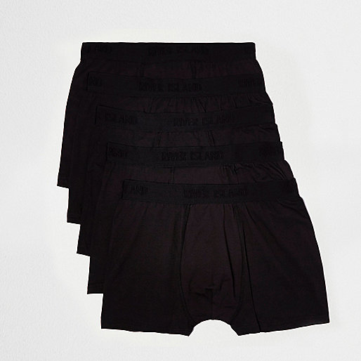 Black tonal branded boxers multipack