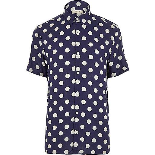 Ausgestelltes, kurzärmeliges Kleid mit Punkten