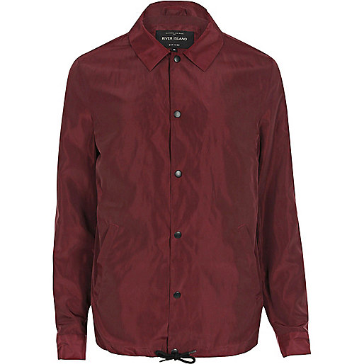 Burgundy coach jacket