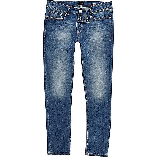 Jean skinny Sid délavage bleu moyen