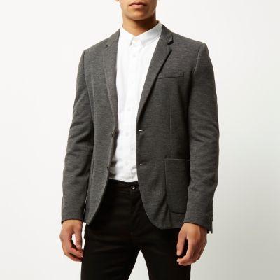 Grijze skinny-fit blazer
