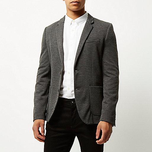 blazer gris coupe skinny blazers homme. Black Bedroom Furniture Sets. Home Design Ideas