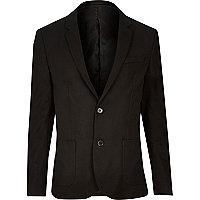 Black skinny blazer
