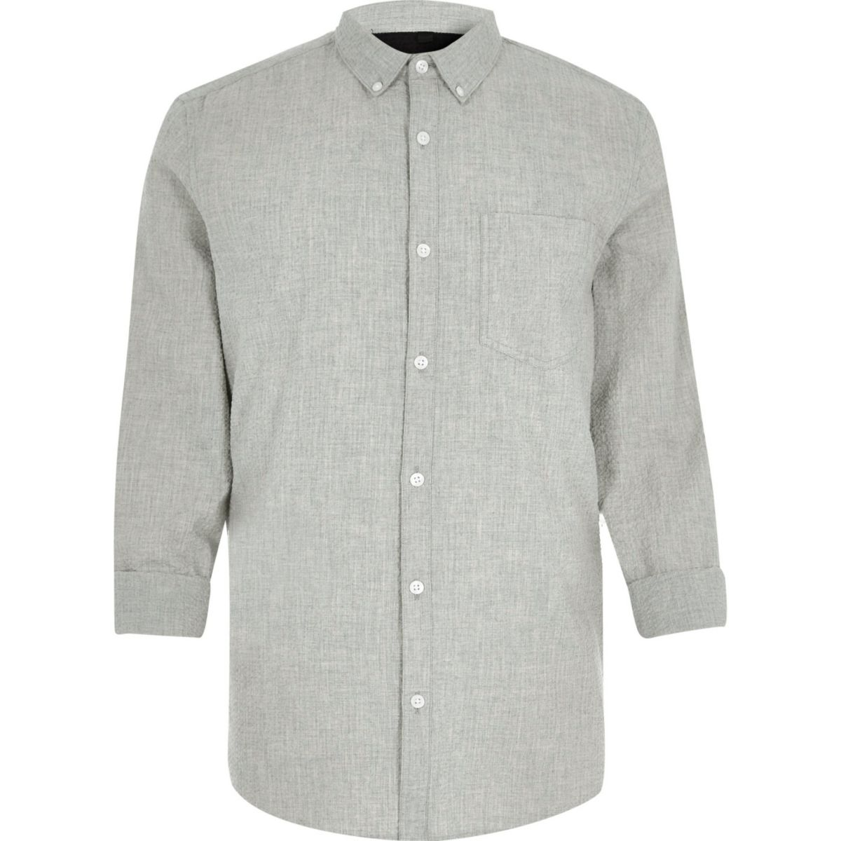 Grey seersucker shirt shirts sale men for Mens seersucker shirts on sale