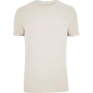 Figurbetontes T-Shirt in Ecru