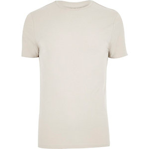 Ecru muscle fit T-shirt