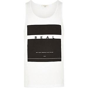 White print vest