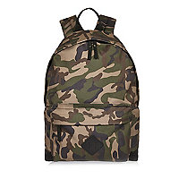 Green camo backpack