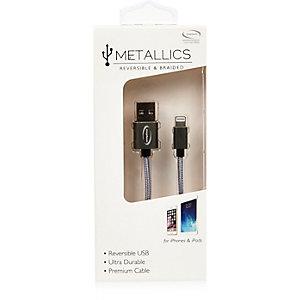 Grijze omkeerbare USB-kabel