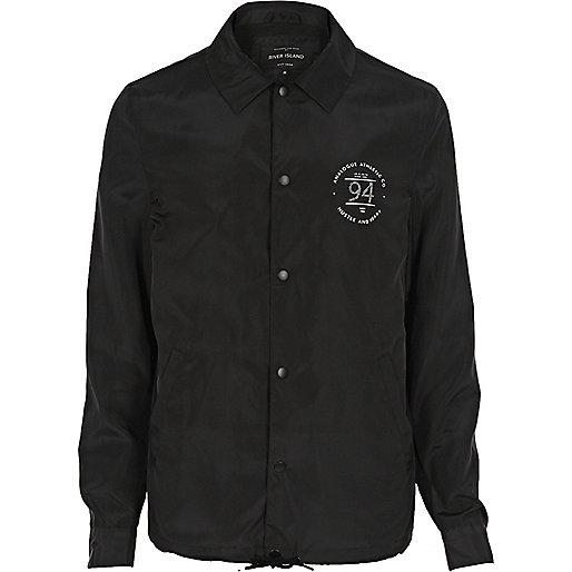 Black print coach jacket