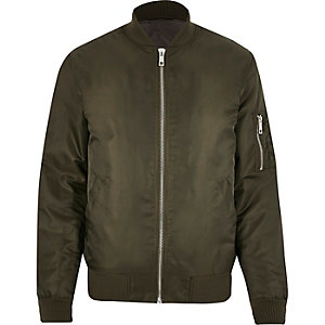Dark green padded MA1 bomber jacket