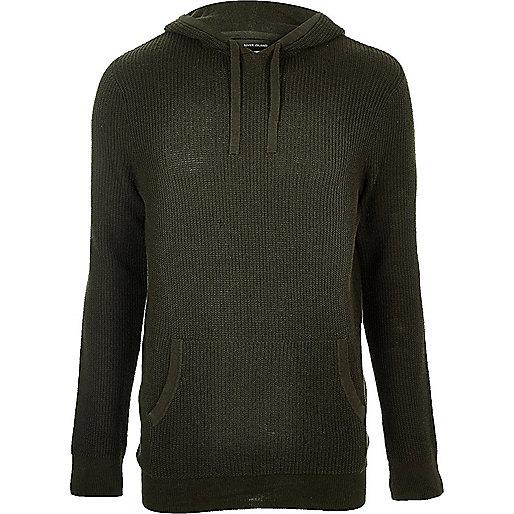 Dark green hooded jumper