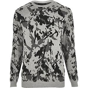 Grey camo jumper