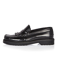 Schwarze Loafer schwarzer Sohle