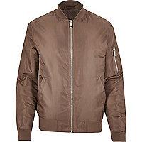 Mink padded MA1 bomber jacket