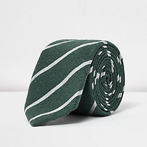 Green stripe smart tie