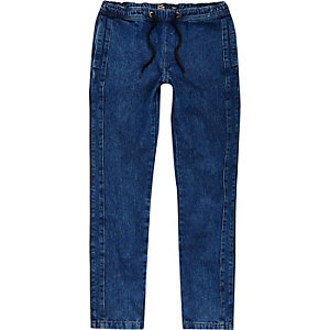 Blue YMC denim joggers