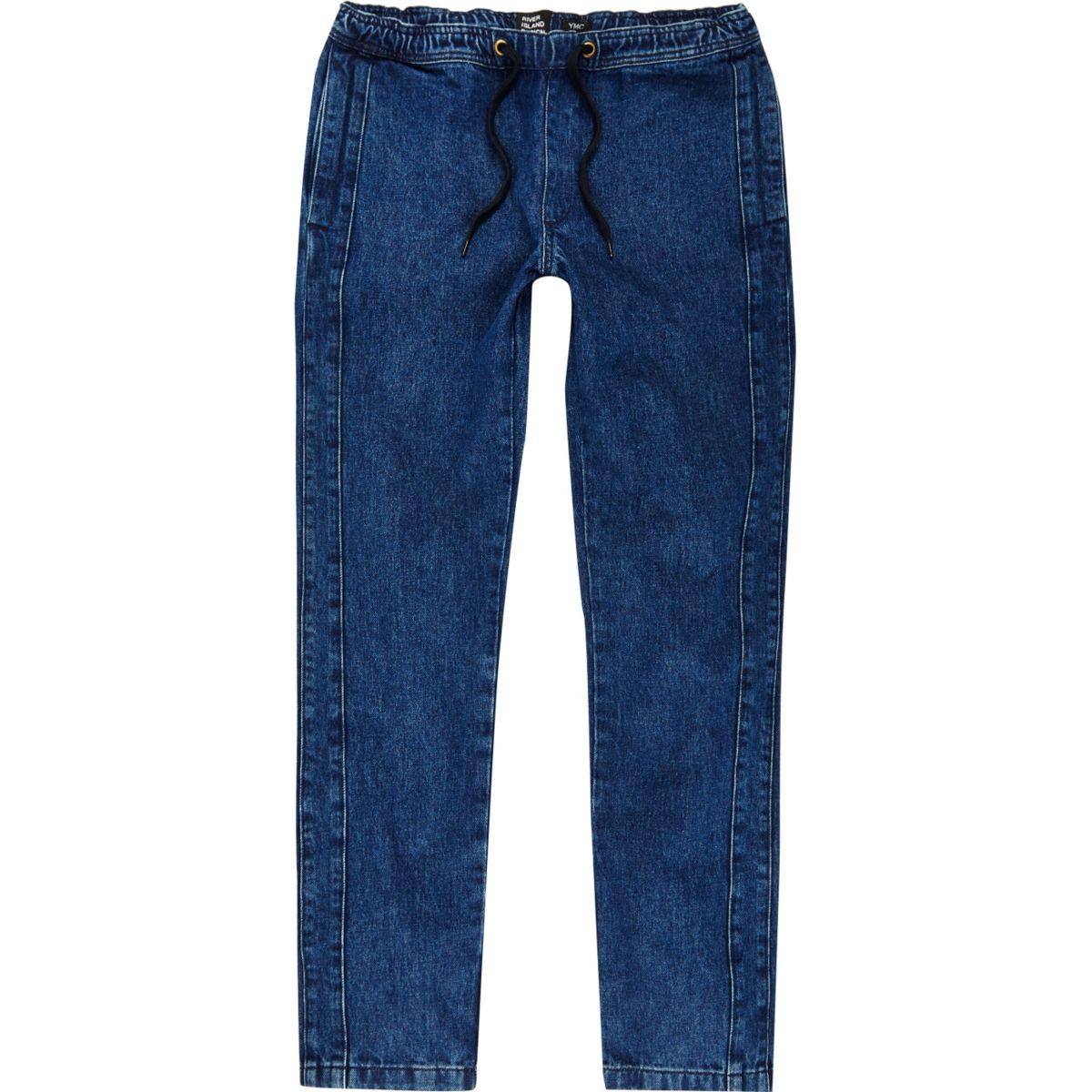 YMC – Blaue Jeans-Jogginghose