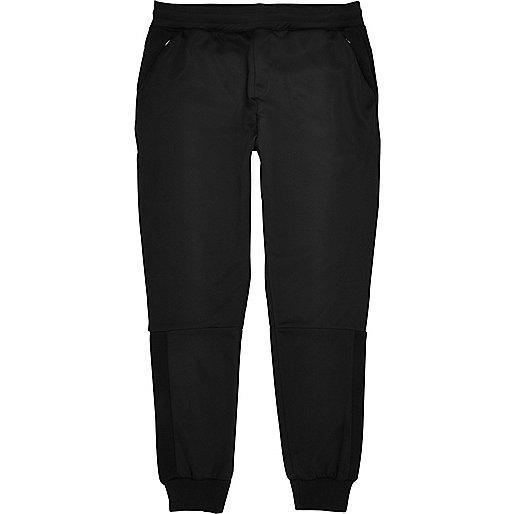 Pantalon de survêtement noir à empiècement en tulle