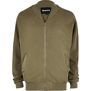 Khaki Granted slouch MA1 bomber jacket