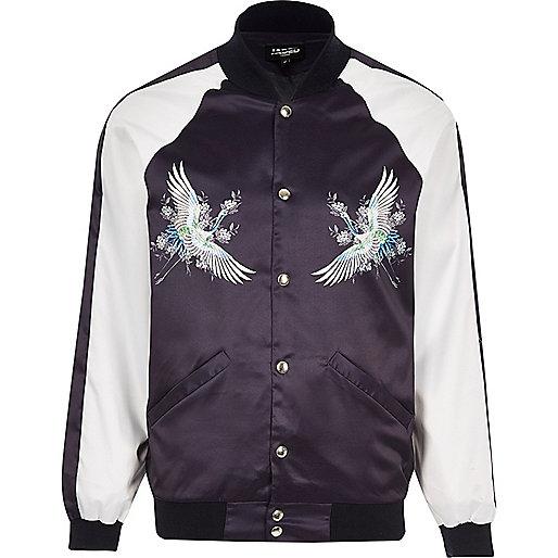 Purple Jaded London souvenir bomber jacket