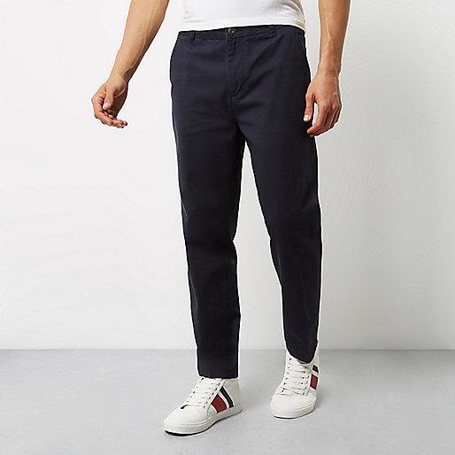 Pantalon chino ADPT bleu marine