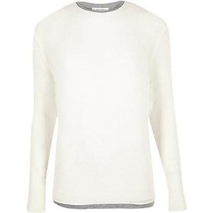 Ecru layered longline sweater