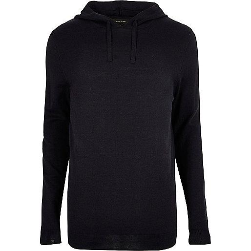 Navy cotton hoodie
