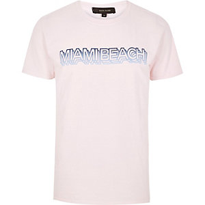 Roze Miami Beach T-shirt