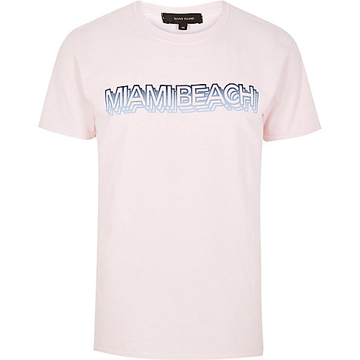 Pink Miami Beach t-shirt