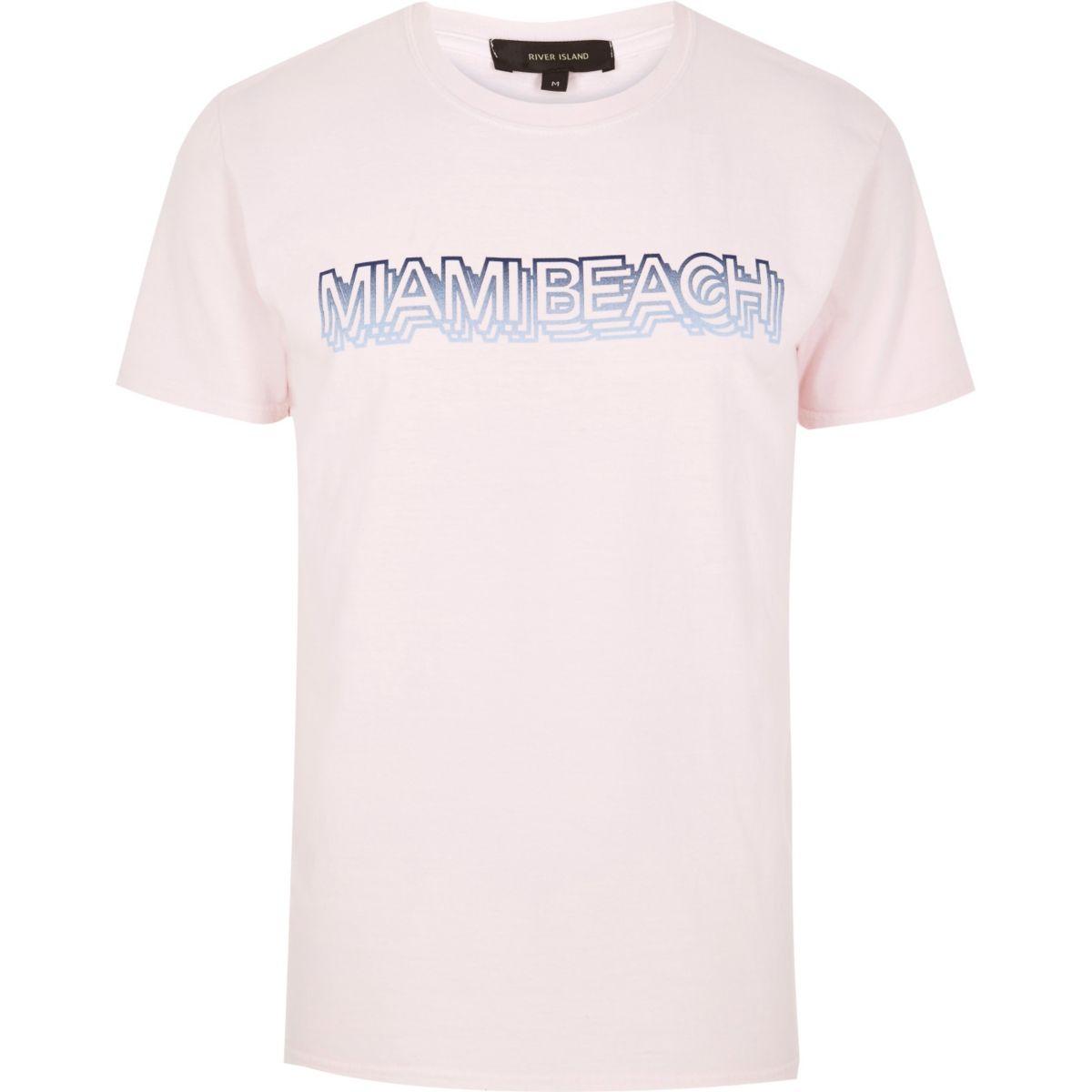Pink Miami Beach t-shirt